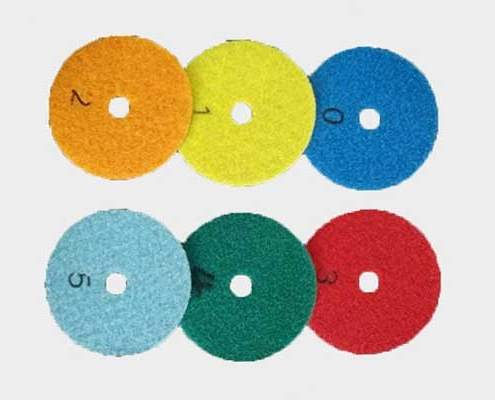 Wood floor polishing pad