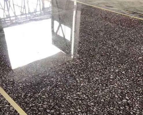 Efecto de pulido de cemento