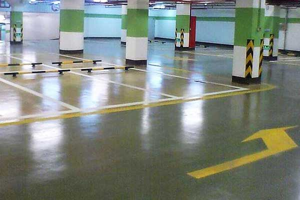 Parking-lot-floor